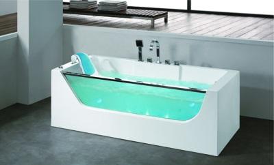 ванна с гидромассажем с подсветкой