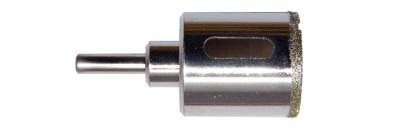 Отверстие в плитке под трубу - перфоратор с поставленной коронкой с алмазным напылением