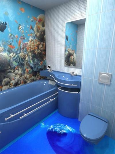 3 d полы в ванной