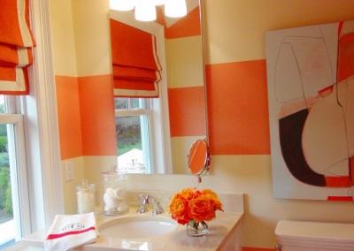 Желто-оранжевая ванная