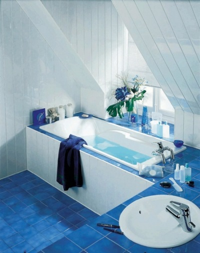 потолочные панели в ванной общий вид