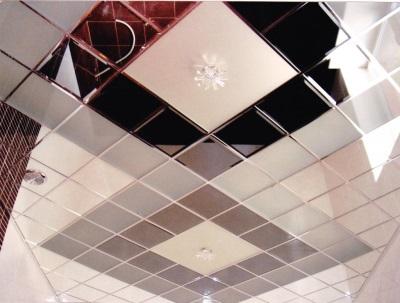 плиточный навесной потолок
