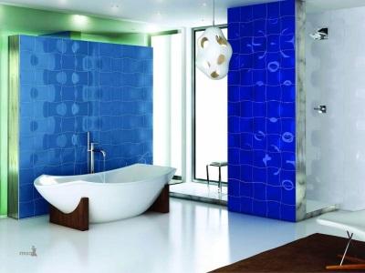 Сине-зеленая ванная