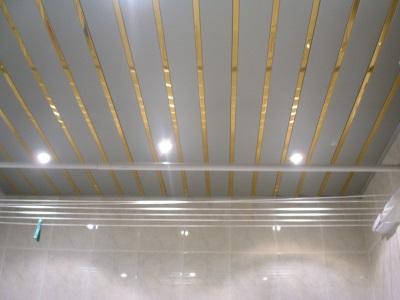 потолочные панели пластиковые в ванной