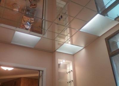 Чистый зеркальный потолок