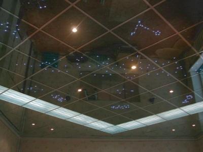 Зеркальный потолок освещение