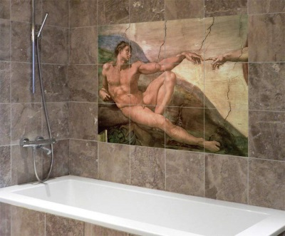 Фотоплитка в оформлении ванной комнаты