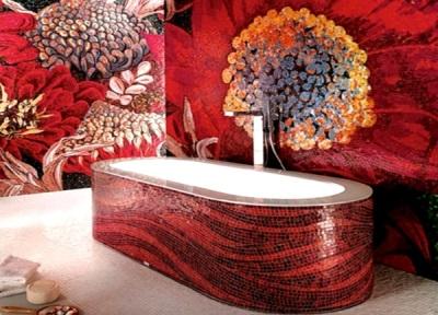Оформление ванной комнаты мозаикой