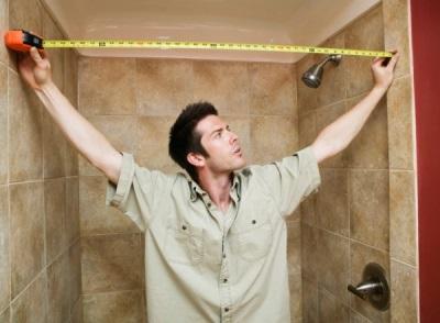 Замеряем ванную комнату