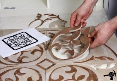 Ковровый метод укладки плитки