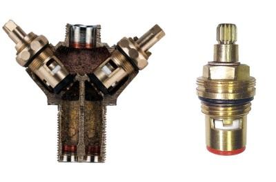 Кран-букса и золотниковый клапан для смесителя