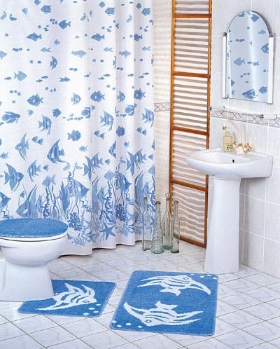 Сочетание аксессуаров в ванной комнате