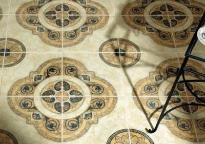 Напольное покрытие керамической плиткой