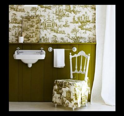 Темный низ, светлый верх ванной комнаты