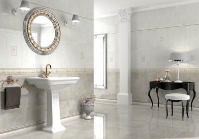 Плинтуса и бордюры в оформлении ванной комнаты