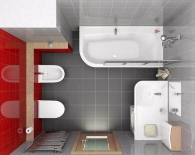 Проект небольшой ванной - все есть