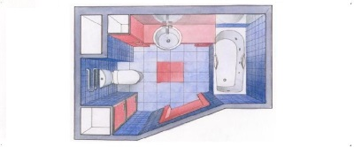 Проект расстановки мебели и сантехники
