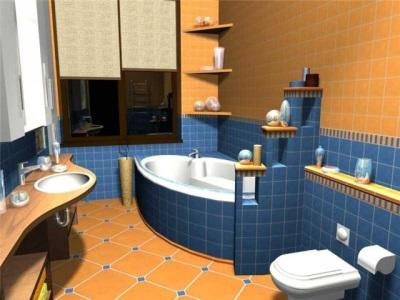 Функциональное зонирование ванной комнаты