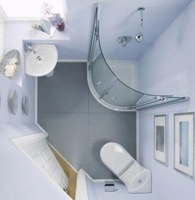 Проект ванной комнаты-все по углам