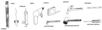 набор инструментов для установки душевой кабины