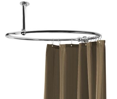 Круглая штанга для ванной