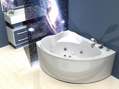 Ассиметричная ванная 1,56х1,2