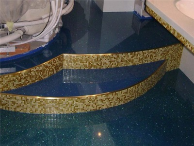 Подиум для угловой ванны