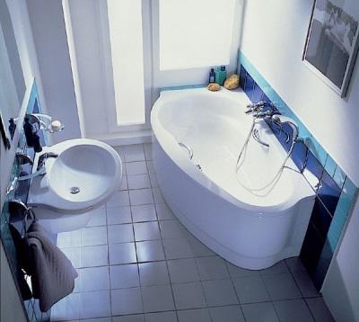 Стальная угловая ванная