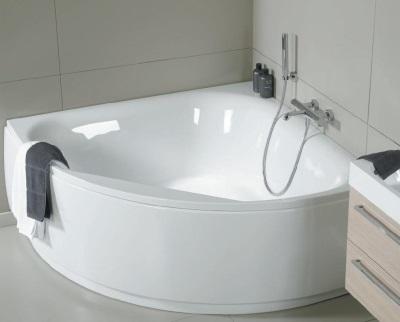 Чугунная угловая ванная