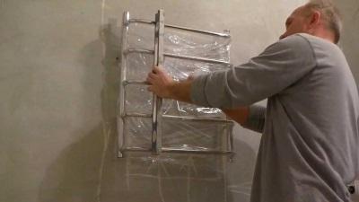 Установка нового полотенцесушителя