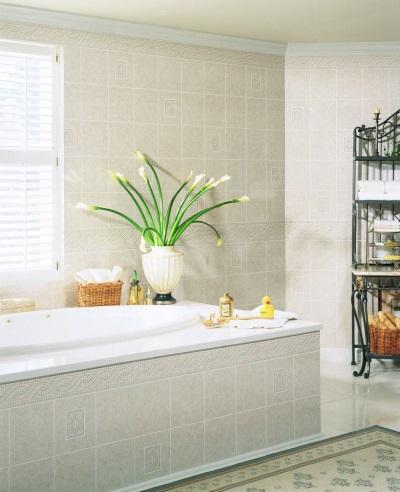 Ванная оформленная стеновыми панелями