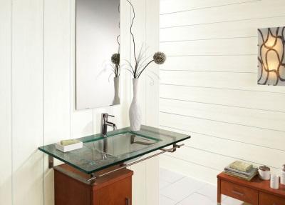 Реечные панели в оформлении ванной комнаты