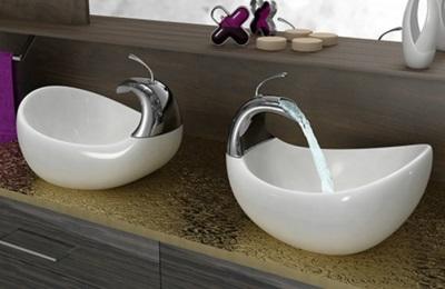 Сдвоенная раковина для ванной комнаты