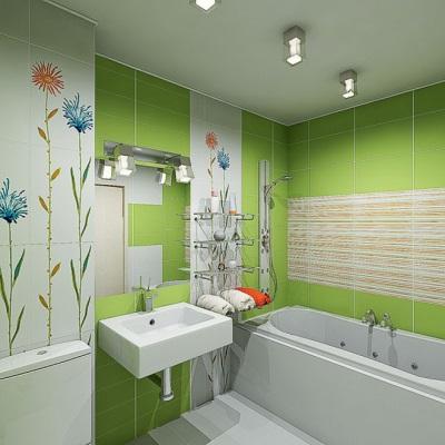 Результат компьютерной визуализации ванной комнаты