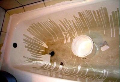 Наливной способ реставрации ванны