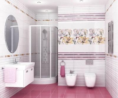 Плитка в ванную из одной коллекции