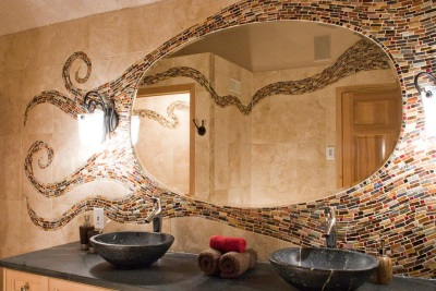 Мозаичные панно в ванной комнате