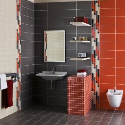 Ванная комната облицованная монокоттурой
