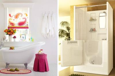 Стильные сидячие ванны