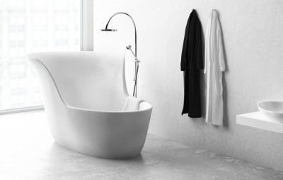 Элегантная стальная сидячая ванна