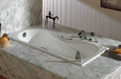 Полуавтоматический слив на ванной