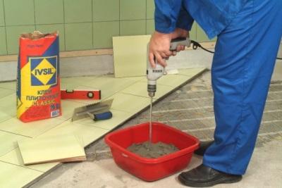 Клей для плитки со смешиванием