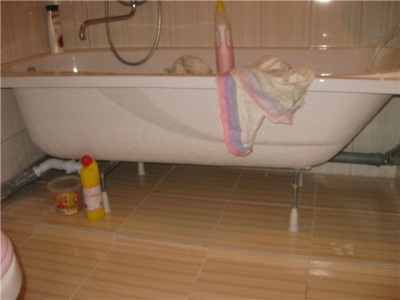 Ванна на опорных ножках