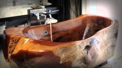 Ванна из дерева венге