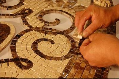 Сборка мозаичного панно