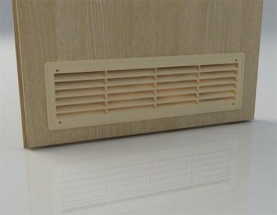 Вентиляционная решетка для пластиковой двери