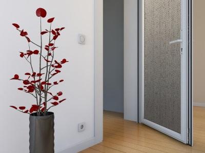 Металлопластиковая дверь для ванной комнаты