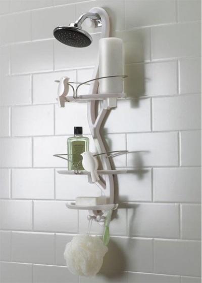 Навесная полка в душ