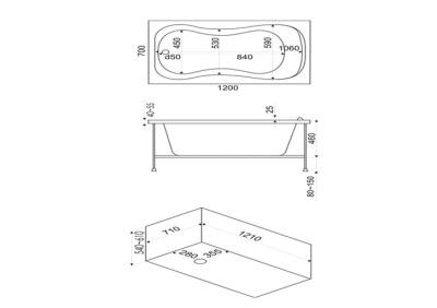 Размеры ариловых ванн