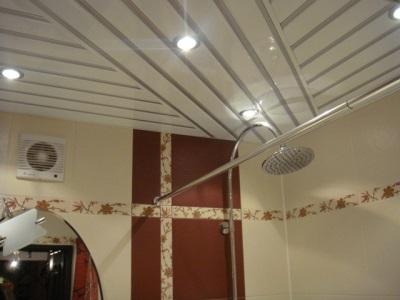Вариант укладки реечного потолка